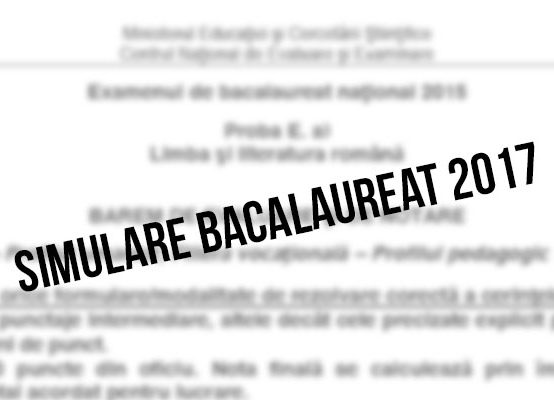Simulare Bacalaureat 2017 clasa a XII-a – Anatomie
